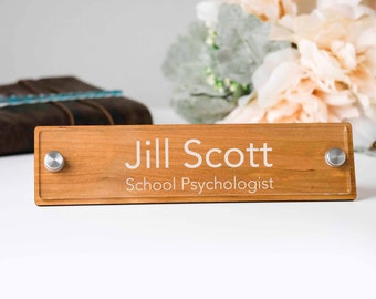 Office Desk Accessories - Personalized Desk Name Plate - Teacher Name Plate