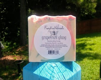 Grapefruit Ylang - Handcrafted Rustic Olive Oil Soap