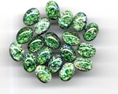 LOW PRICE 14x10mm 3 pcs Emerald Sea Green Fire Opal Dragons Breath glass cab cabochon Czech DIY Jewelry Necklace Pendant Pin Ring Earrings