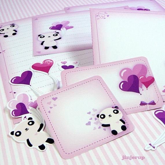 Kawaii True Love Panda Papeterie Mignon Valentin Pâques Amour Anniversaire Party Invitation Carte Pdf Imprimable