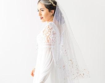 Gold Mica Flake Wedding Veil