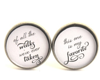 Father of the Bride Custom Wedding Cufflinks Personalized Gift for Dad Of All the Walks We've Ever Taken Wedding Day Bride to Dad Gift