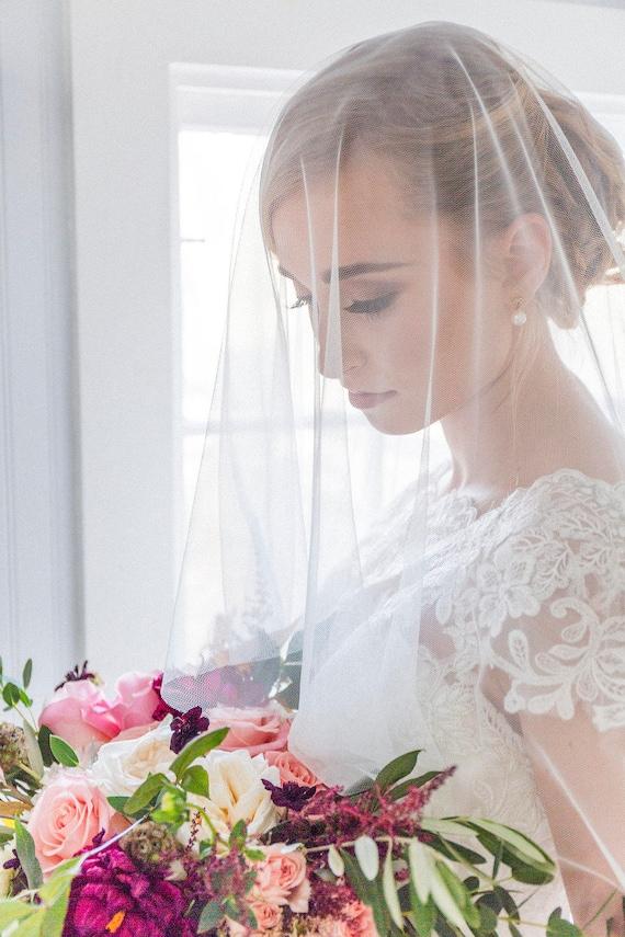 Wedding Veil Drop Sluier Sluier Met Blusher Engels Bruids Sluier Katie Middleton Sluier Zachte Sluier Cirkel De Sluier Netto Sluier Ivoor