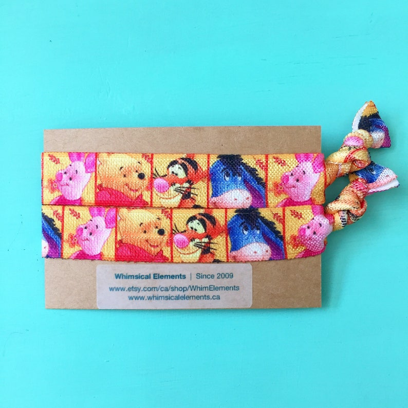 Bracelet by Whimsical Elements Winnie the Pooh Inspired 2pk Hair Ties Party Favor