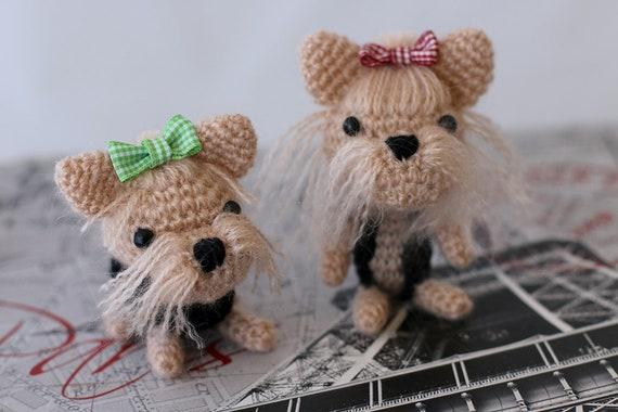 Amigurumi crochet Yorkshire Terrier Yorkie Puppy Crochet | Etsy | 380x570