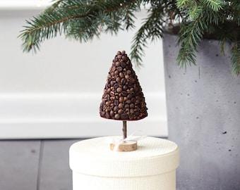 Christmas tree coffee beans, Christmas tree topiary
