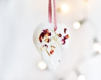 Christmas decoration, Heart shape ornament, Window decoration