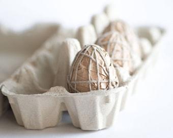 Rustic Eggs - Easter Tree Ornaments - Rustic Easter Decoration - Easter Basket Filler