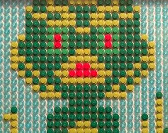 Creature from the Black Lagoon original LEGO art - Gillman Monster OOAK