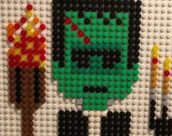 FRANKENSTEIN the MONSTER original LEGO pixel art