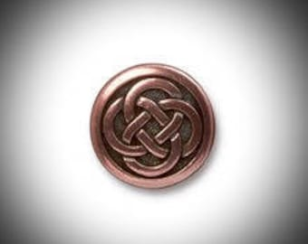 Copper Love knot Lapel Pin, Mens Tie Tack Celtic Jewelry Irish Jewelry Groomsmen Gift Unisex Bridal Jammf Celtic Jewelry