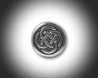 Silver Love knot Lapel Pin, Mens Tie Tack Celtic Jewelry Irish Jewelry Groomsmen Gift Unisex Bridal Jammf Celtic Jewelry