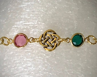 Jamie Claire Fraser Birthstone Bracelet Swarovski Emerald Birthstone Jewelry Sister Friendship Bracelet Outlander Inspired Bracelet
