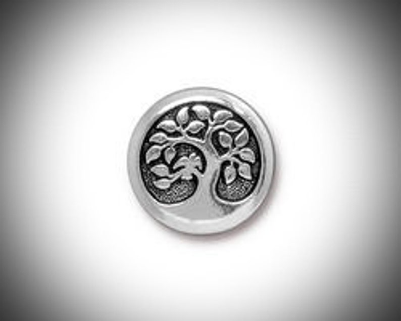 Silver Tree of Life Lapel Pin Mens Tie Tack Celtic Jewelry image 0