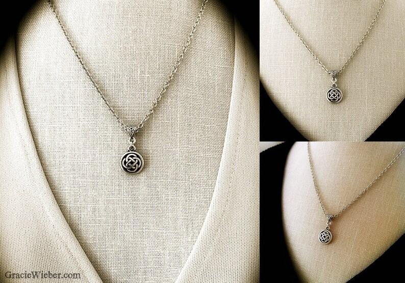 Celtic Necklace Celtic Knot Necklace Celtic Jewelry Love image 0