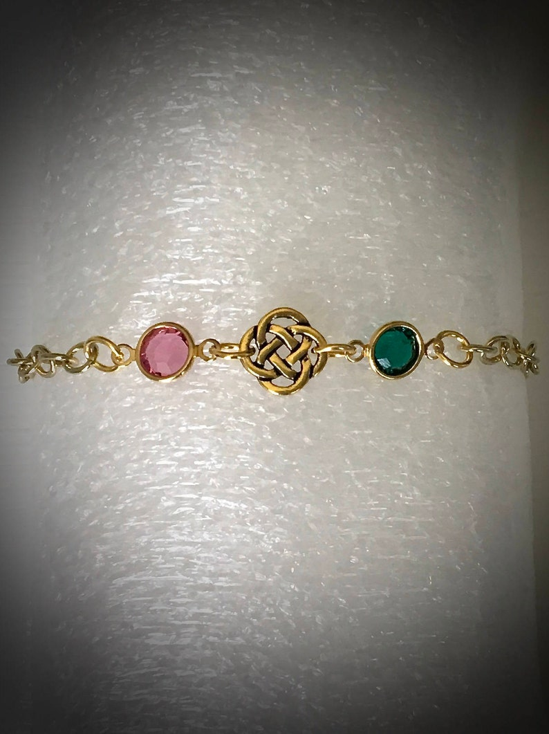 Jamie Claire Fraser Birthstone Bracelet Outlander Jewelry image 0