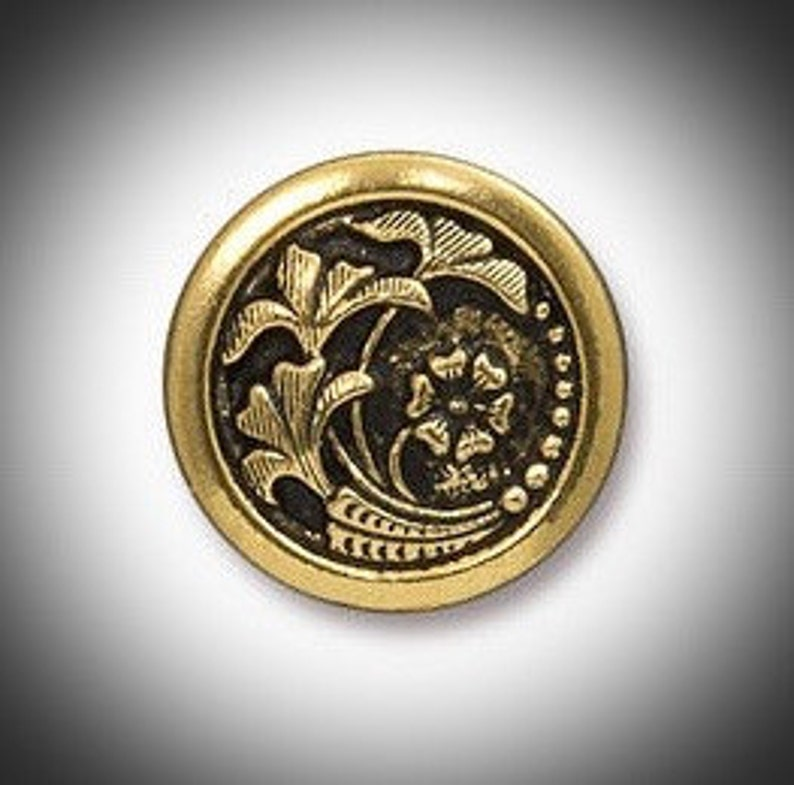 Gold Scottish Thistle Mens Lapel Pin Outlander Jewelry image 0