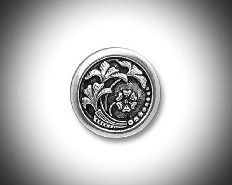 Silver Scottish Thistle Mens Lapel Pin Outlander Jewelry image 0