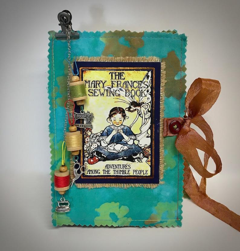 Antique Sewing Journal Sewing Book Keepsake Diary Folio image 0