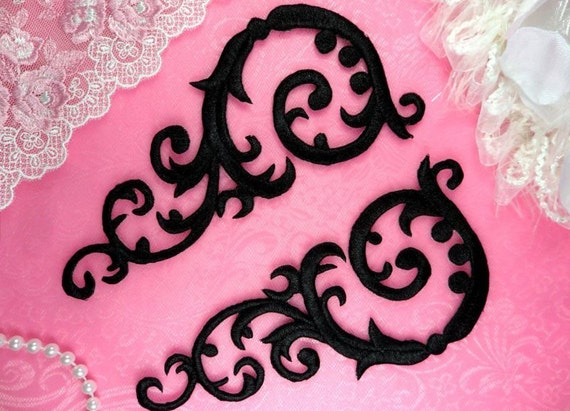 "GB355 Embroidered Gold Mirror Pair Appliques 8.75/"" Dance DIY Costumes Crafts"