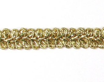 "E1901 Gold Metallic Gimp Sewing Upholstery Trim 1/2"" (E1901-mgl)"
