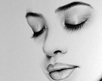 Aaliyah Original Pencil Portrait