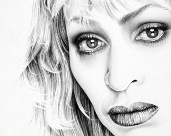 Tina Turner Pencil Drawing Fine Art Portrait Print Hand Signed