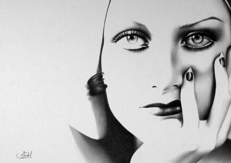 Joan Crawford Pencil Drawing Fine Art Portrait Classic image 0