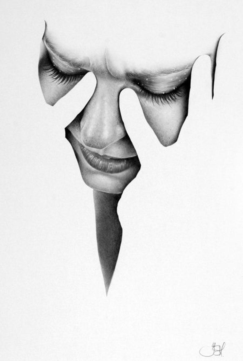 Original Fine Art Portrait Pencil Drawing image 0