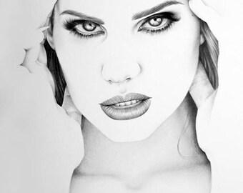 Lana del Rey Fine Art Signed Print Pencil Drawing