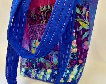 Quilted Tote Bag in Aflutter - One of a Kind - Ready To Ship - Handcrafted - Quilted Bag