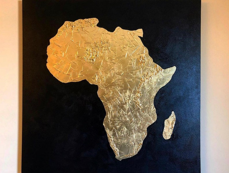 Gold map of Africa Africa map Africa love map of Africa | Etsy