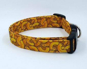 Comfort Time Macaroni and Cheese Orange Dog Collar Mac