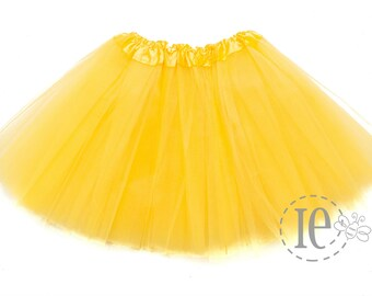 9787ffe63 Yellow 4-Layer GIRLS Tutu - Yellow Tutu - Yellow Girls Tutu - Tutus for  Girls - Girls Tutu - Girls Skirt - Dance Tutu (C4 Ballet)