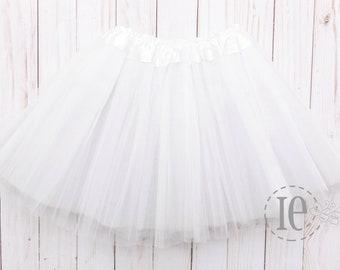 "White Adult XXL Tutu 4-Layer / Plus Size Tutu / Waist Stretch 30-60"" / Fast Shipping / Bachelorette"