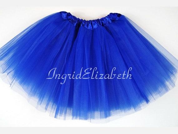 3f2eebb7a9 Royal Blue Teen ADULT 4 Layer Tutu ... Adult Tutu Costume Color Run Tutu  Bachelorette Party (4L Adult)