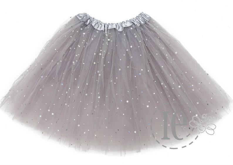 Teen Sparkle Tutu 4L Adult Sparkle Silver SPARKLE ADULT Tutu 4-Layer Adult Sparkle Tutu Silver Ballet Tutu Silver Sparkle Tutu