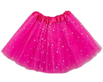 Hot Pink Sparkle Girls Tutu, Hot Pink Sparkle Tutu, Hot Pink Glitter Tutu, Girls Tutu, tutus for girls