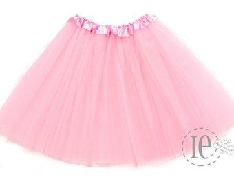 """Pink Adult XL Tutu 4-Layer / Plus Size Tutu / Waist Stretch 22-42"""" / Women's Tutu / Adult Tutu / Bachelorette"""