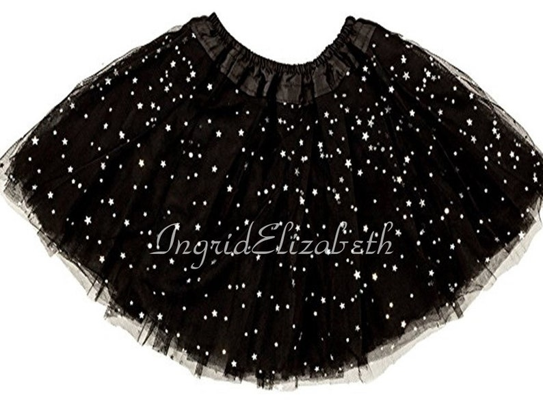 6fc0a56c8 Black SPARKLE ADULT Tutu 4-Layer Teen Adult Sparkle Tutu
