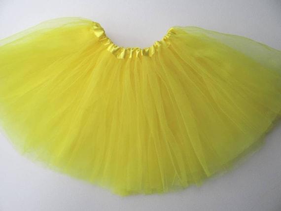 dfaff7d88 Yellow Teen Adult PLEATED 3-Layer Tutu SALE / Waist Stretch | Etsy