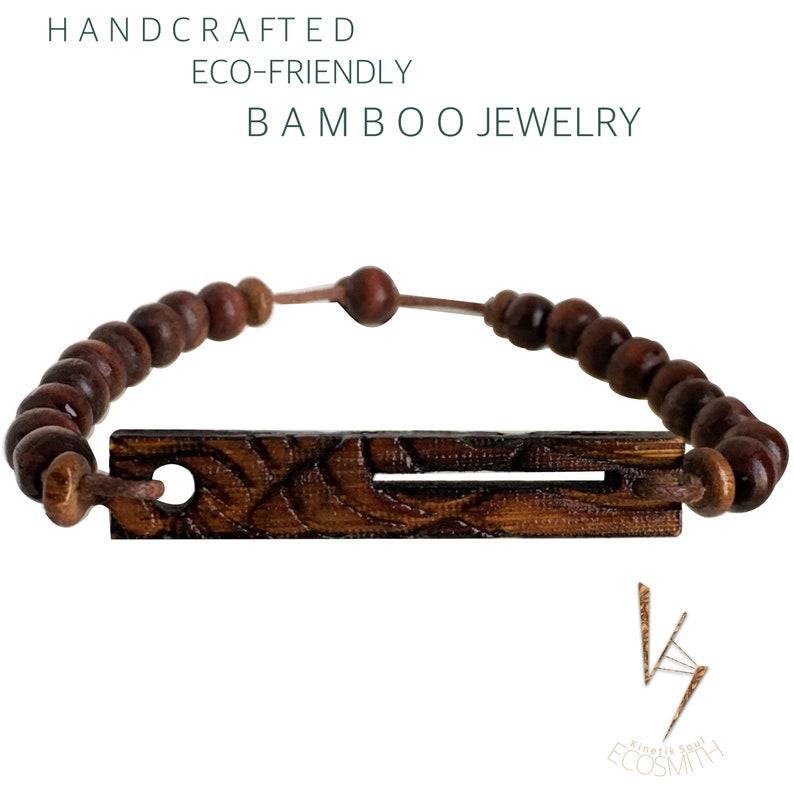 Eco Bamboo NuWave Wood Bracelet-UNISEX image 0