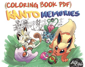 Kanto Memories Coloring Pages PDF