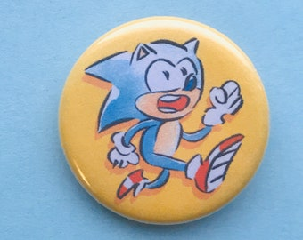 Knuckles Sonic the Hedgehog Sonic Tails Amy 1.25/'/' Button Pins Adventure