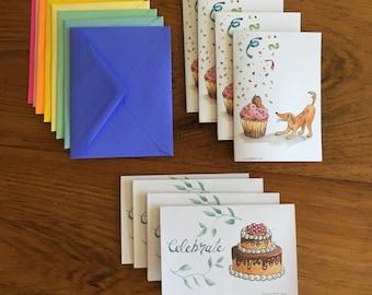 Celebration Greeting Cards-  8 Pack