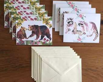 Woodland Animals Greeting Cards- 8 Pack