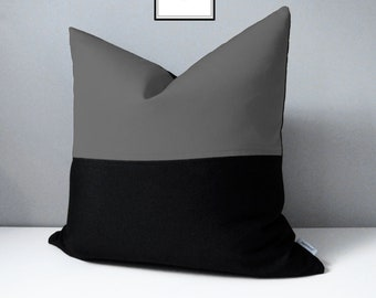 Modern solid outdoor pillow covers