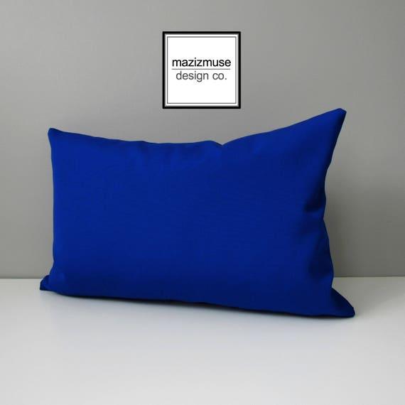 Royal Blue Outdoor Pillow Cover