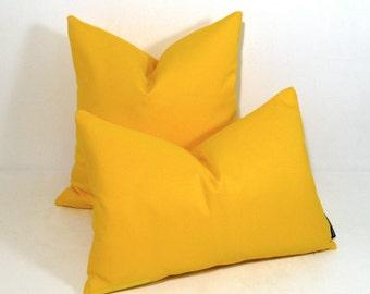 Yellow Outdoor Pillow Cover, Modern Sunbrella Pillow Cover, Decorative Pillow Case, Sunflower Yellow Cushion Cover, Throw Pillow Cover