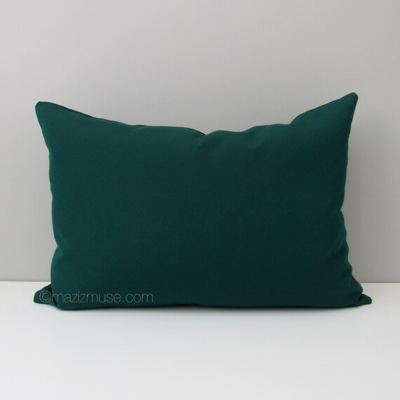 Forest Green Outdoor Pillow Cover Decorative Pillow Cover Etsy